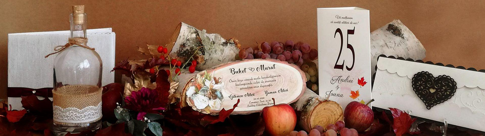 Accesorii pentru nunta cu tematica de toamna