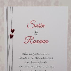 Invitatie de nunta moderna cu inimioare 10104 STYLISH