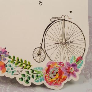 Invitatie de nunta tinereasca cu elemente florale 2184 STYLISH