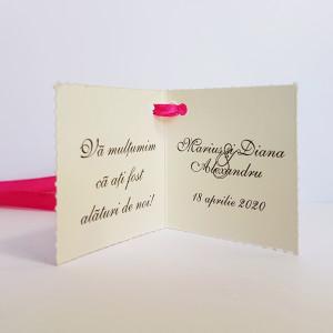 Eticheta - Card dublu perforat crem 81