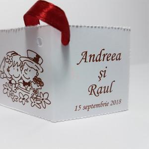Eticheta - Card dublu perforat alb 16