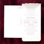 Invitatie de nunta crem sidef cu fundita 115431 TBZ