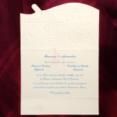 Invitatie de nunta multicolora cu flori, inimioare si verighete 124040 TBZ