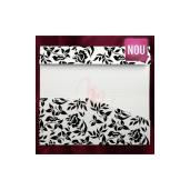 Plic pentru bani alb si negru cu tema florala 140020 TBZ