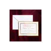 Invitatie de nunta cu chenar auriu 150035 TBZ