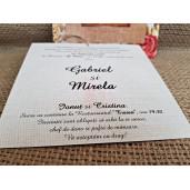 Invitatie de nunta vintage florala 2776 POPULAR