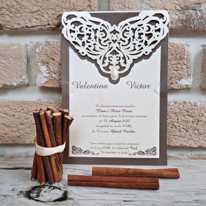 Invitatie de nunta eleganta 2760 POPULAR