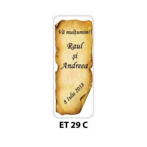 Eticheta pentru sticla ET 29 C