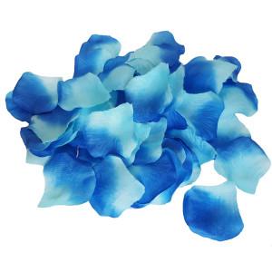 Petale artificiale de trandafiri albastre degrade