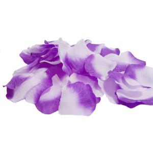 Petale artificiale de trandafiri mov degrade